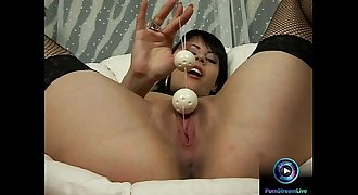Valentina Sanchez plays with juices and her sex toys