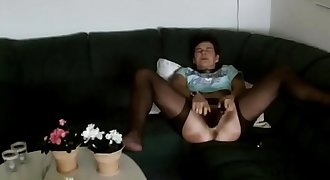 Milf fuck two big faux-cocks