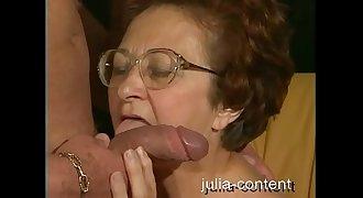 70yo Grandmother fucked younger Man