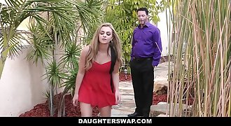 DaughterSwap - Naughty Blonde Teen Caught on Webcam And Fucked
