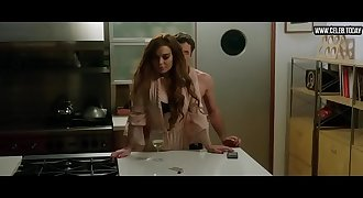Lindsay Lohan - Naked Sex Scenes, Topless, Threesome   Bisexual - The Canyons (2013)