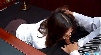 Subtitles - Ibuki, Japanese secretary, fucked in office