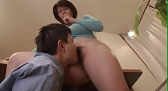 Elegant japanese Mummy wife was stripped clothes to be nudity by her stepson while her husband works next door - Pt2 On HdMilfCam.com