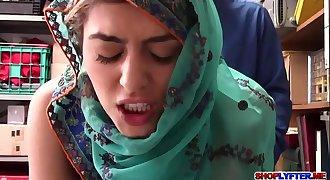 Sexy Arab thief Audrey gets a punishment
