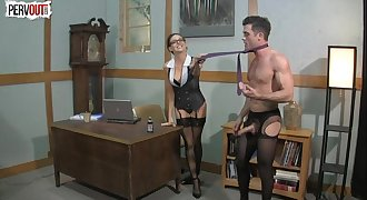 Milking Office Pussy Muncher LANCE HART SADIE HOLMES Female dom