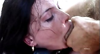 Two sexy chicks are brutalized by Rocco Siffredi