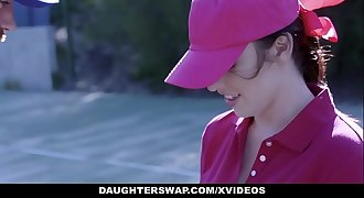 DaughterSwap - Cute Tennis Wailing Fucked by Stepdads
