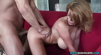 Busty milf drilled by her personal trainer