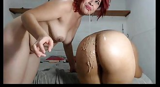 Webcam Girls Gagging Vomit Puke Puking Vomiting and Barf
