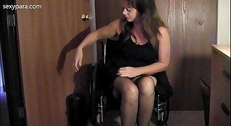 Wheelchair Strip Tease - Sexy Para Wheelchair Porn