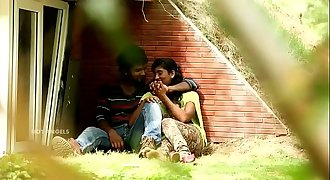 Indian Duo Tit Press & Fuck In Park
