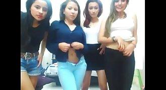 Cuatro caliente latinas desnudandose por webcam - wWw.HotGirlsX.Net