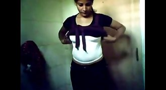 indian Chandigarh college teenage young body self records in Bathroom for me MMS