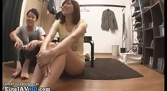 Japanese big tits Mummy fucking after games - More at Elitejavhd.com