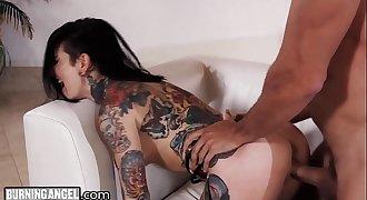 Big Cock Pounds Joanna Angel to Jizz Explosion on Tattoos!