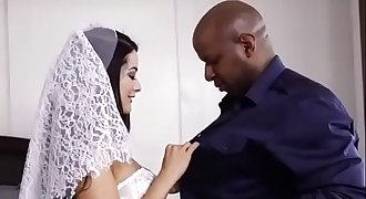 my cuckold wedding night , bride slut wifey fucked by black bbc on wedding night