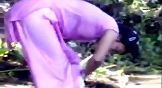 Hot desi indian teen girl bathing open