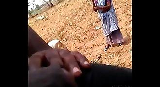 idian dick flash village granny