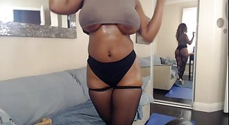 Busty Booty Ebony Nyla Storm Fucks Her Playthings For Her Webcam Lovers