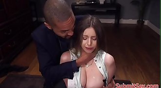 Tied up restrain bondage sub spanked before anal fucking