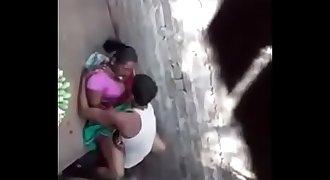 Desi village devar fucking his bhabi secretly in outdoor spy video