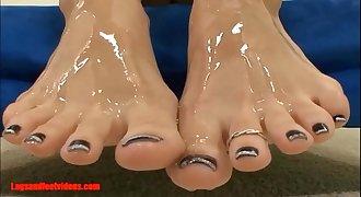 Legsandfeetvideos.com Amazing smoking footjobs and lick jism of feet and guzzle