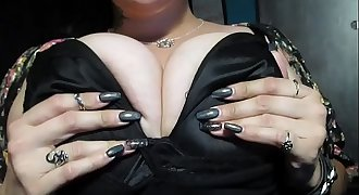 Huge Boobs bra Tease with jiggles and bouncing
