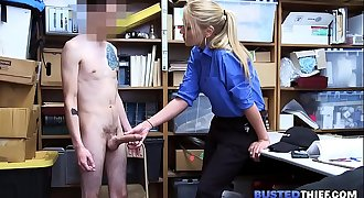 MILF Female Officer Fucks Young Thief