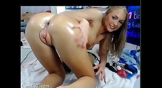 PHATTEST PUFFY Teenager Vagina EVER!!  Dildoing Her Butt